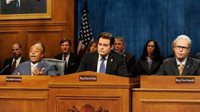 A Saturday Night Live skit mocks the lack of public interest in the Benghazi hearings.