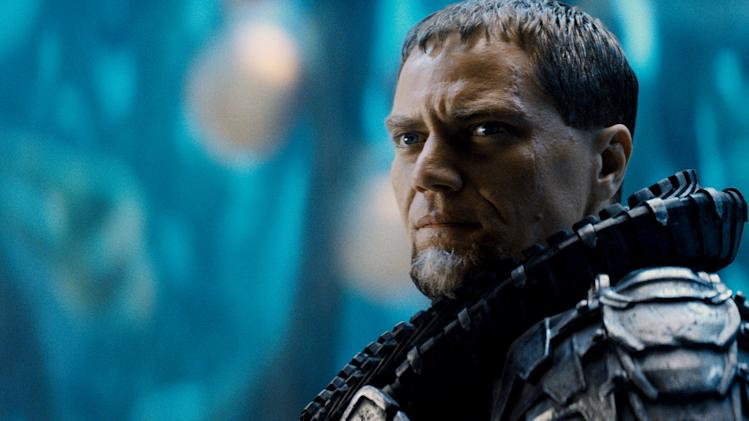 "This film publicity image released by Warner Bros. Pictures shows Michael Shannon as General Zod in ""Man of Steel."" (AP Photo/Warner Bros. Pictures)"