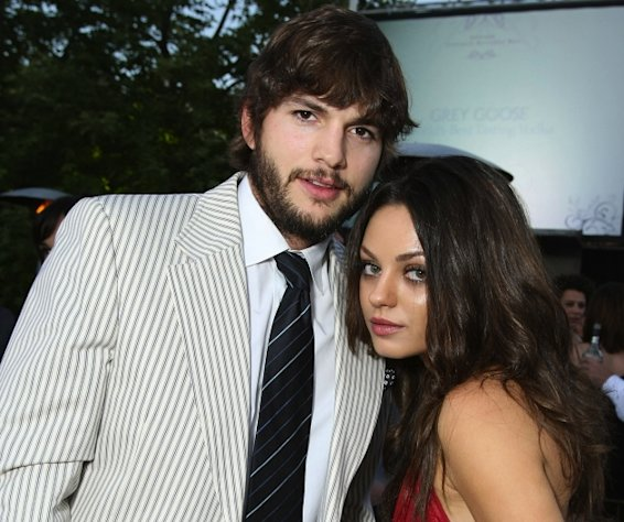 Ashton Kutcher and Mila Kunis attend the 7th Annual Chrysalis Butterfly Ball at a private residence on May 31, 2008 in Los Angeles -- Getty Premium