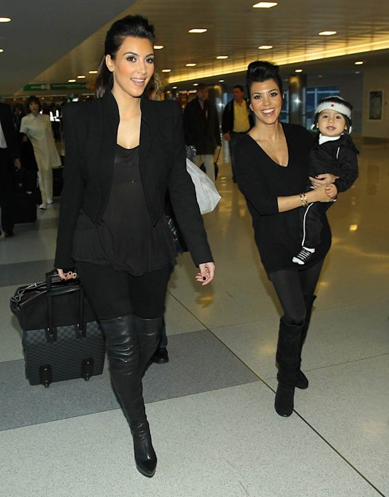Kardashian Kim Kourtney Mason JFK