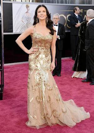 Catherine Zeta-Jones arrives at the Oscars on February 24, 2013 in Hollywood, Calif. -- Getty Images