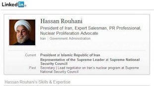 ht israel fake rouhani linkedin profile ll 130925 v7x11 16x9 608 Israeli Embassy Pokes Fun at New Iranian President Online