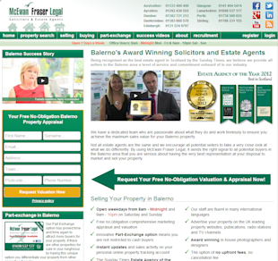 Landing Page Audit Case Study: McEwan Fraser Legal image landing page audit old version