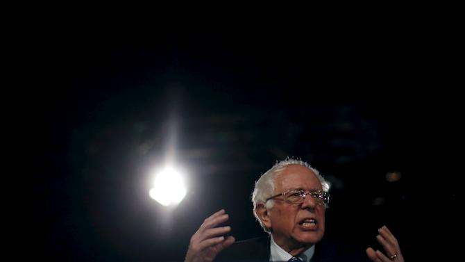 U.S. Democratic presidential candidate Bernie Sanders speaks at a campaign rally in Denver