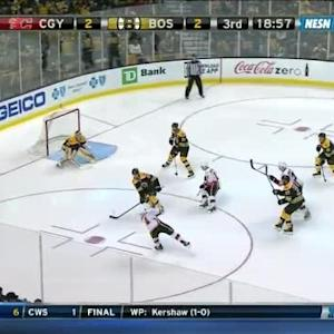 Tuukka Rask Save on Kris Russell (01:06/3rd)