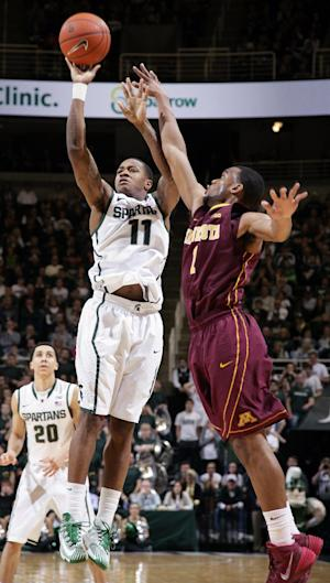 No. 5 Michigan State beats Minnesota 87-75 in OT