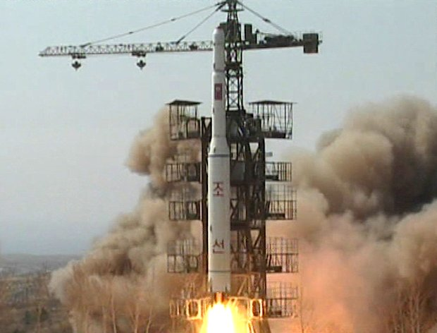 FILE - In this April 5, 2009 image made from KRT video, a rocket is lifted off from its launch pad in Musudan-ri, North Korea. North Korea announced Friday, March 16, 2012, it plans to launch a long-range rocket mounted with a satellite next month, a surprise move that comes weeks after it agreed to nuclear concessions including a moratorium on long-range missile tests. The launch plan comes as North Korea prepares to celebrate the April 15 centenary of the birth of its founder, Kim Il Sung. (AP Photo/KRT TV, File) NORTH KOREA OUT, TV OUT