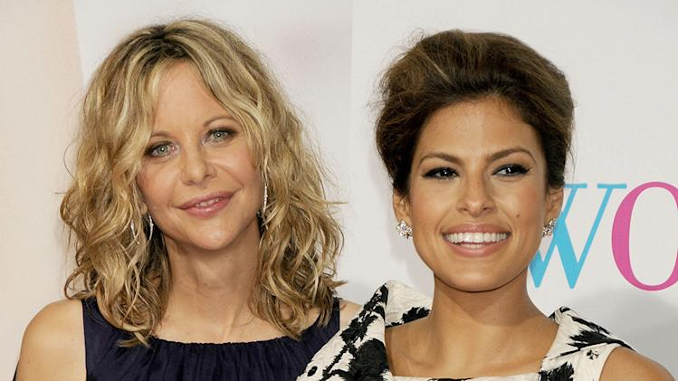 The Women LA Premiere 2008 Meg Ryan Eva Mendes
