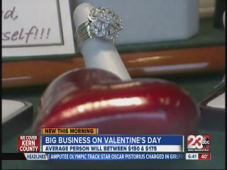 Big business on Valentine's Day