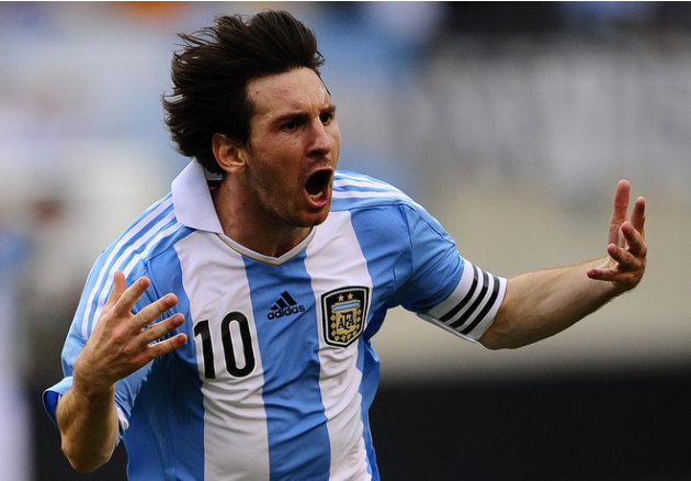 Argentinian Soccer Player Lionel Messi Celebrates AFP/Getty Images