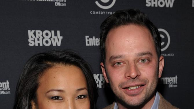 """Actress Tina Huang, left, and actor/comedian Nick Kroll attend an exclusive screening of Comedy Central's """"Kroll Show"""" hosted by Entertainment Weekly on Tuesday, January 15, 2013 at LA's Silent Movie Theatre in Los Angeles. (Photo by John Shearer/Invision for Entertainment Weekly/AP Images)"""