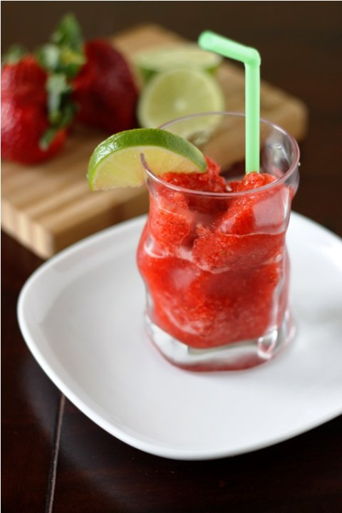 Strawberry Margarita Granita