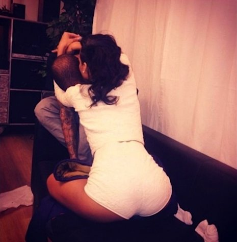 Rihanna and Chris Brown on November 29, 2012 -- Twitter