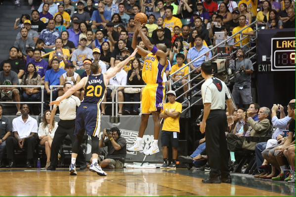 Kobe Bryant's First Shot In His Return to the Lakers Was Not Good
