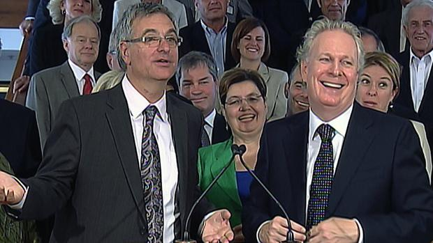 Jean-Marc Fournier said Quebecers saw progress under outgoing Liberal Leader Jean Charest.