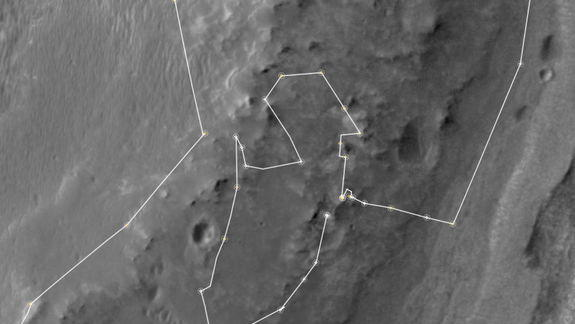 Mars Rover Opportunity Exploring Possibly Habitable Ancient Environment
