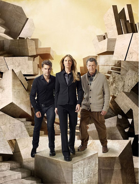 "Joshua Jackson, Anna Torv and John Noble star in ""Fringe."""