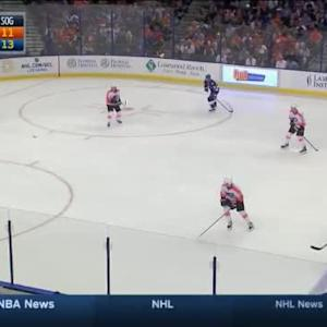 Ray Emery Save on Jason Garrison (11:43/2nd)