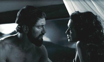 Gerard Butler as Leonidas and Lena Headey as Gorgo in Warner Bros. Pictures' 300