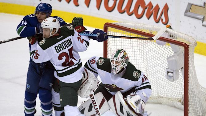 Wild climb back in contention behind Dubnyk's dominance