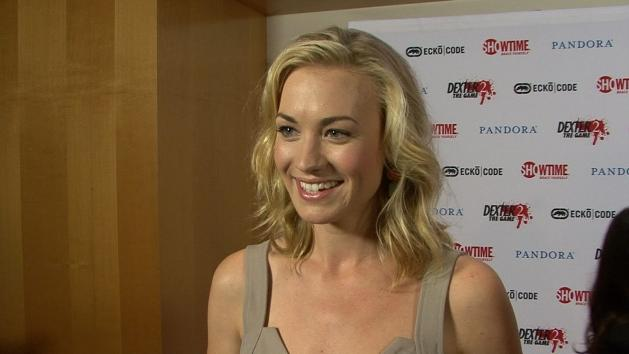 Yvonne Strahovski chats with Access at the 'Dexter' party at San Diego Comic-Con 2012, July 19, 2012 -- Access Hollywood