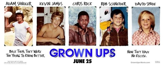 Movie: Grown Ups, Adam Sandler, Kevin James, Chris Rock, et al