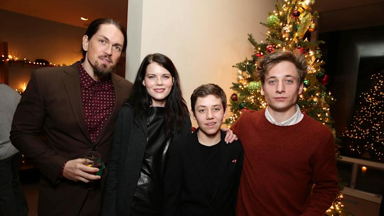 Steve Howey, Emma Greenwell, Ethan Cutkosky and Jeremy Allen White seen at Showtime's Holiday Soiree, on Thursday, Dec. 5, 2013 in Los Angeles. (Photo by Eric Charbonneau/Invision for Showtime/AP Images)