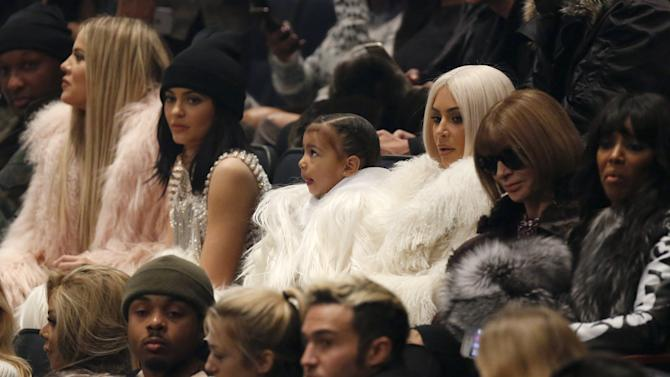 Lamar Odom, Khloe Kardashian, Kylie Jenner, North West, Kim Kardshian and Vogue Editor Anna Wintour attend Kanye West's Yeezy Season 3 Collection presentation and listening party during New York Fashion Week