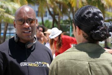 Producer John Singleton on the set of Universal Pictures' Illegal Tender