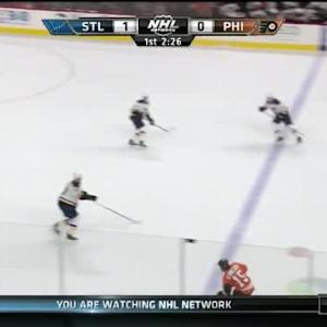 Brian Elliott Save on Michael Del Zotto (17:36/1st)