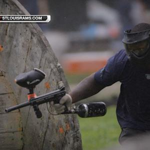NFL Fan Pass: St. Louis Rams show paintball skills at local fundraiser