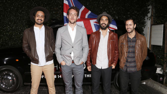 Young the Giant attend the Topshop Topman LA Opening Party At Cecconi's in Los Angeles, on Wednesday, Feb. 13, 2013 in Los Angeles. (Photo by Todd Williamson/Invision for/AP)