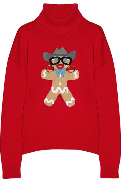 Moschino appliqued wool turtleneck sweater, $695, net-a-porter.com