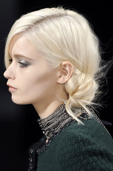 A side chignon is classic, take note from the most classic of them all, Chanel – from the Fall…