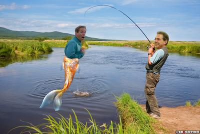 Nick Saban says Nick Saban caught a Nick Saban-sized fish