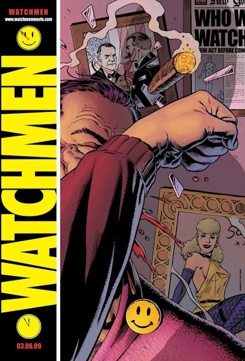 Poster Watchmen Production Warner Bros. 2009 CLONE