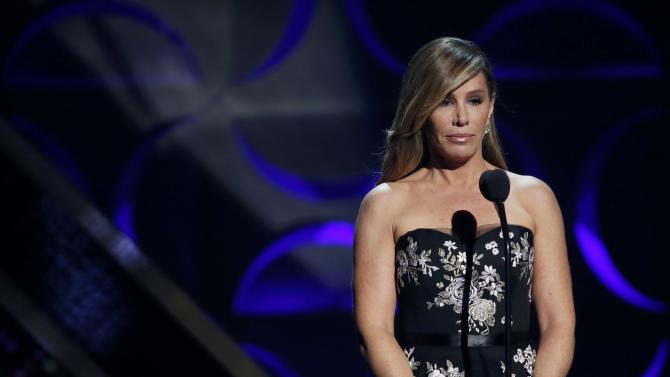 Television personality Melissa Rivers speaks on stage at the 42nd Annual Daytime Emmy Awards in Burbank