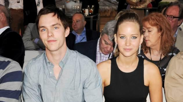 Nicholas Hoult and Jennifer Lawrence attend a cocktail reception during Amber Lounge Fashion Monaco 2012 at Le Meridien Beach Plaza Hotel on May 25, 2012 in Monaco -- Getty Premium