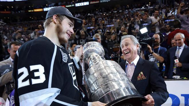 Captain Dustin Brown #23 Of The Los Angeles Kings Hands Getty Images