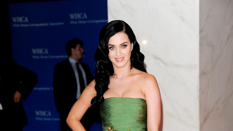 Singer Katy Perry attends the White House Correspondents' Dinner at the Washington Hilton on Saturday April 27, 2013 in Washington. (Photo by Evan Agostini/Invision/AP)