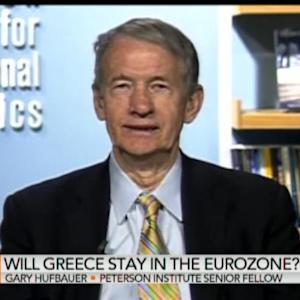 Greek Bailout Won't Be Repaid for a Decade: Hufbauer