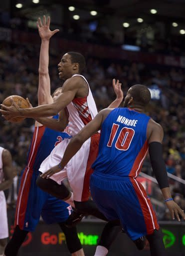 DeRozan scores 23 as Raptors beat Pistons 97-91