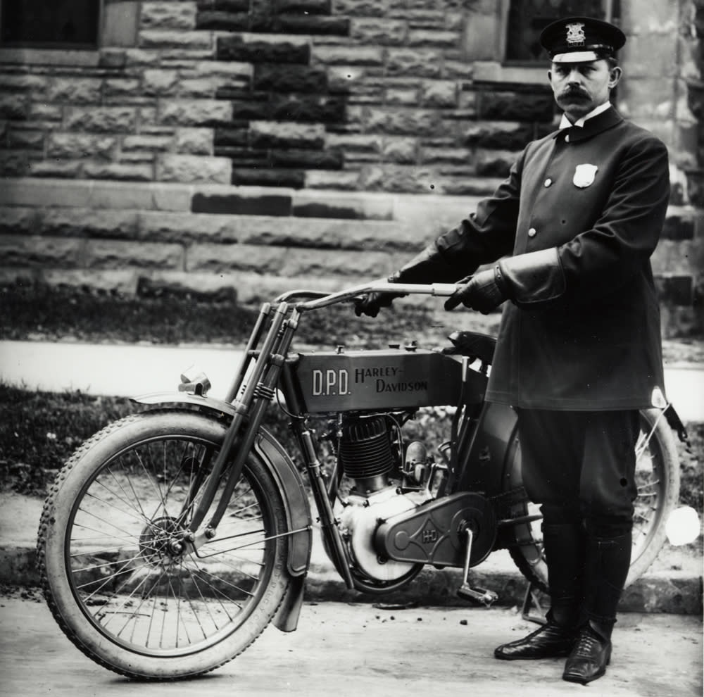 A History of Harley-Davidson and the Boys in Blue