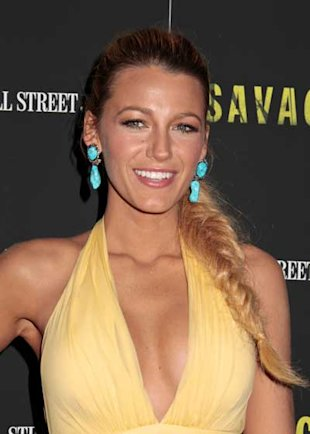 Blake Lively Pairs Her Gucci Gown With a Fishtail Plait at The New York Savages Premiere