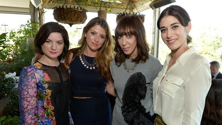 From left, Ilaria Urbinati, Sara Riff, Merle Ginsberg and Lizzy Caplan attend The Hollywood Reporter & Jimmy Choo Celebration of the Most Powerful Stylists in Hollywood, on Wednesday, March 12, 2014, in West Hollywood, Calif. (Photo by John Shearer/Invision for The Hollywood Reporter/AP Images)