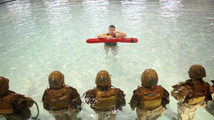 Women Attend Marine Boot Camp At Parris Island, South Carolina
