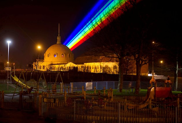 US Artist Yvette Mattern's Global Rainbow On Show In Gateshead