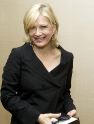 Diane Sawyer attends Aretha Franklin's seventieth birthday party in New York, Saturday, March 24, 2012. (AP Photo/Charles Sykes)