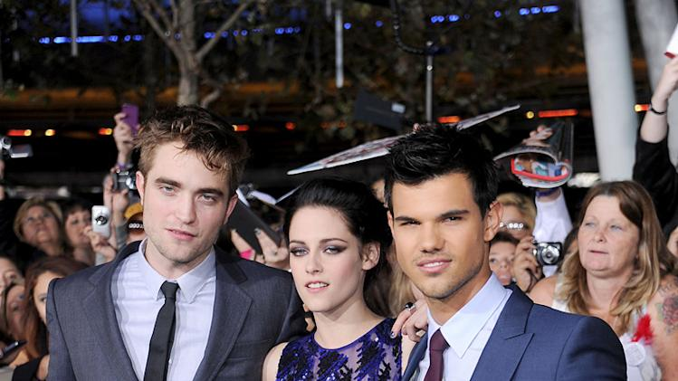 The Twilight Saga Breaking Dawn LA Premiere 2011 Robert Pattinson Kristen Stewart Taylor Lautner