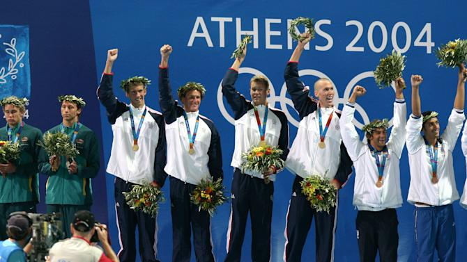 Athens 2004 Olympic Games - Day 4 - Swimming - Men's 4x200m Freestyle Relay Final